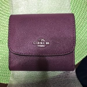 NWT Coach Small Leather Lilac Purple Wallet